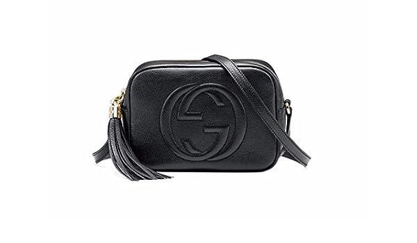 acb8a84d1 Amazon.com: GUCCI Black Soho Leather Disco Bag 308364 w/ Dust Bag: Shoes