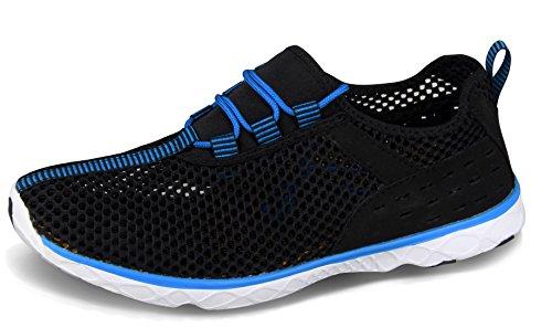 Santiro Herren weich Slip-on-Sneaker Atmungsaktives mesh-oberfläche schnelltrocknende Schuhe SSK004B1-41