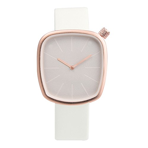 Watch, Womens Watch, Fashion Leather Band Analog Alloy Quartz Wrist Watch Retro Exquisite Luxury classic Bracelet Casual business Watches For Ladies Teen Girls (White)