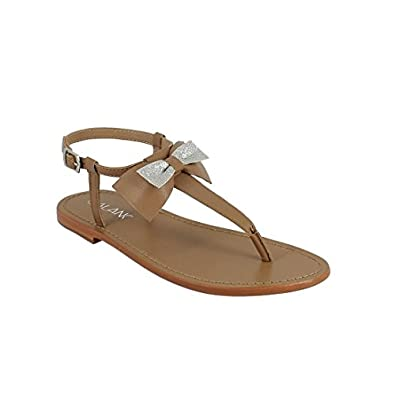 Calank Tongs / Sandales  Lauren Marron - Chaussures Sandale Femme