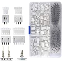 QLOUNI 560Piece 2.54mm JST-XHP 2/3/4/5 Pin Housing with 2.54mm JST XH Male/Female Pin Header Dupont Wire Connector Kit