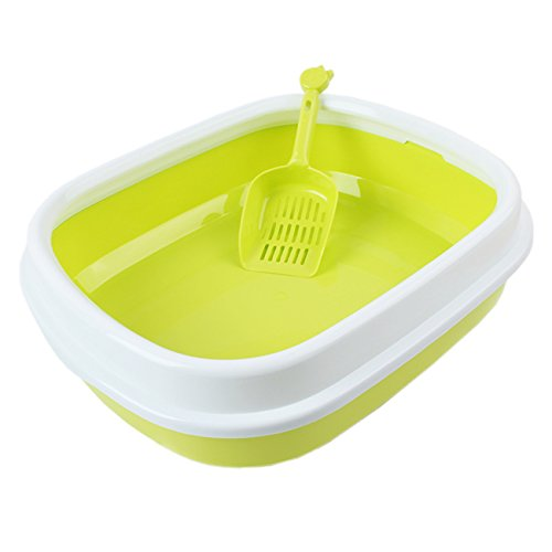 UHeng Luxury Pet Cat Semi Closed Litter Box Shovel Anti Splash Toilet (Designer Litter Pan)