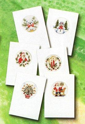 Biglietti Di Natale A Punto Croce.Biglietti Di Natale B Stick Set Punto Croce Confezione Da Pezzi