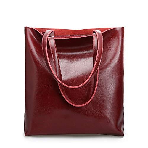 Mode Épaule À Grande Simple Capacité PU Sac Vin Sac Rouge Diagonale Mode Lxf20 Main Dames q8AP0wx