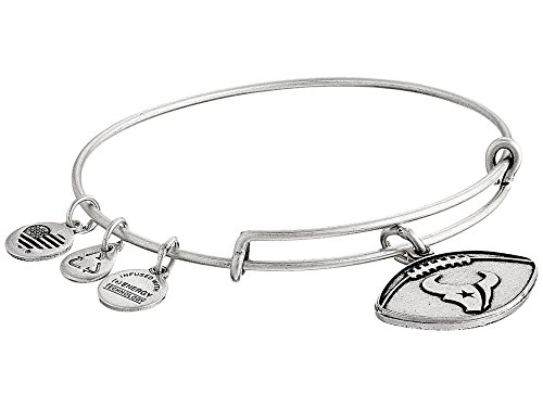 Alex and Ani Women's NFL Houston Texans Football Bangle Rafaelian Silver One Size