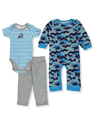 Gerber Baby Boy 3 Piece Coverall, Bodysuit, and Pant Set, dino, 3-6 Months ()