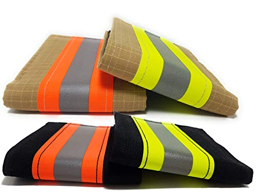 Firefighter Wallet Bifold Original Turnout Bunker Fabric Gear (Black & Orange) (Best Leather Fire Helmet)