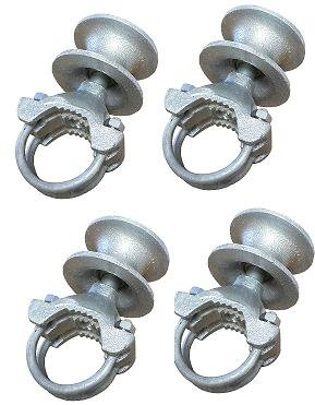 Rolling Cantilever Slide Gate Mini Roller Hardware Set, For 2-3/8