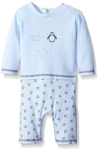 Absorba 2 Piece (ABSORBA Baby Boys' Faux 2 Piece Penguin Coverall, Blue, 3/6)