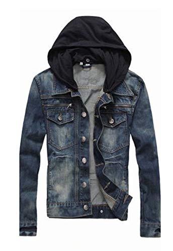 PRIME Men's Denim Jacket Slim Fit Casual Jacket DJBH-01 (LWF, L) ()
