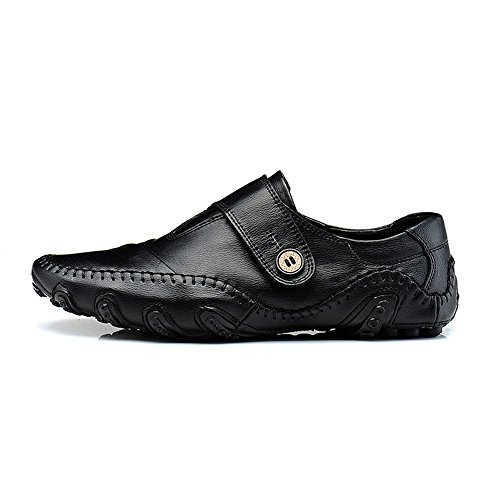 Loafers iLory Black Shoes Driving Boat Leather Men's Octopus Shoes Comfortable Mocassins Soft Flats Hw7SIOqS