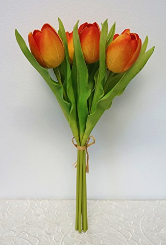 Sweet-Home-Deco-14-Soft-Real-Touch-Latex-Large-Size-Tulip-Artificial-Flower-Bouquet-Bundle-7-Stems7-Flower-Heads