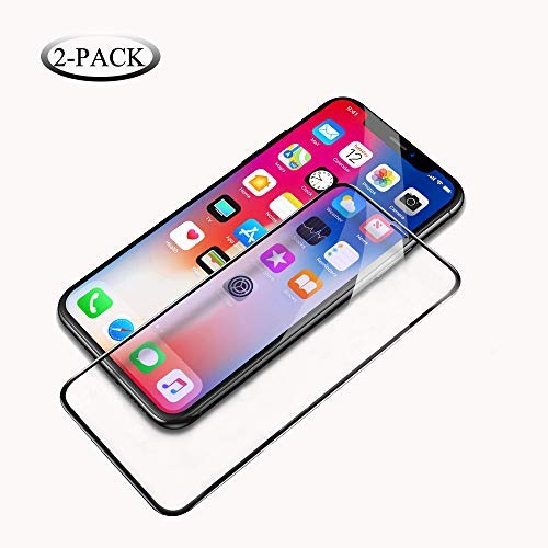Screen Protector Compatible for iPhone Xs & iPhone X,HD Clear,Anti-Scratch,Case Friendly,3D Touch