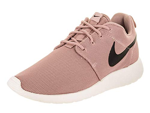 Nike Womens Roshe One Fabric Low Top Lace Up Running Sneaker, Black, Size 8.0 (Nike Roshe Run Siren Red For Sale)