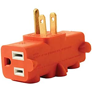 Axis YLCT-10 3-Outlet Heavy-Duty Grounding Adapter