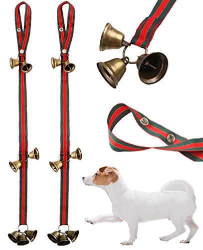 Christmas Dog Door Bells for Potty Training,2 Pack Doggie Doorbell