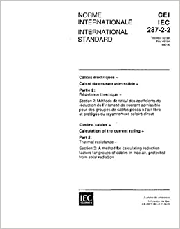 Buy IEC 60287-2-2 Ed  1 0 b:1995, Electric cables - Calculation of