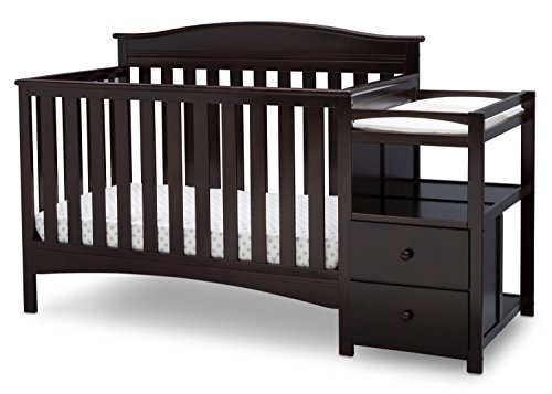 Delta Children Birkley Convertible Crib N Changer Clear Set Headboard
