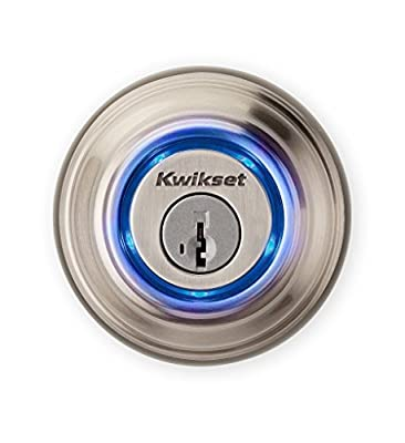 Kwikset Corporation 925 KEVO DB 15 REFURB Kevo Smart Lock with Keyless Bluetooth Touch to Open Convenience, Satin Nickel