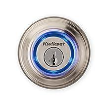 Kwikset Kevo (2nd Gen) Touch-to-Open Bluetooth Smart Lock, Works with Amazon Alexa via Kevo Plus, in Satin Nickel