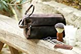 Rustic Town Buffalo Leather Toiletry Bag : Vintage