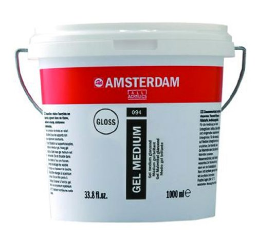 Royal Talens Amsterdam Gel Medium, 1 Liter Tub, Glossy (24192094) by Amsterdam
