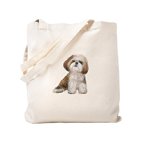 CafePress Shih Tzu (Red Wte) Natural Canvas Tote Bag, Cloth Shopping Bag ()