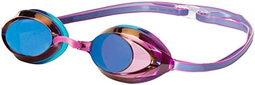 Pink Plus 3 Different Size Nose Clips Speedo Vanquisher Mirrored Swim Goggle