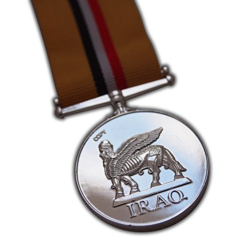 British Op Telic Iraq Medal Full Size Copy to Officers | Armed Forces Campaign for | RAF | Navy | RM | SBS | para | para New Replica ()