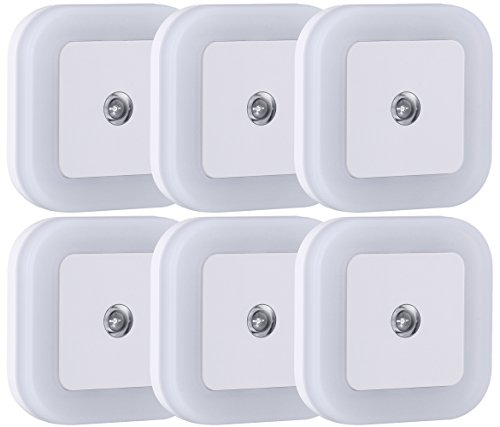 Kitchen Bathroom Bedroom (Sycees SC01 Plug in LED Night Light Lamp with Dusk to Dawn Sensor for Bedroom, Bathroom, Kitchen, Hallway, Stairs, Daylight White, 6-Pack)