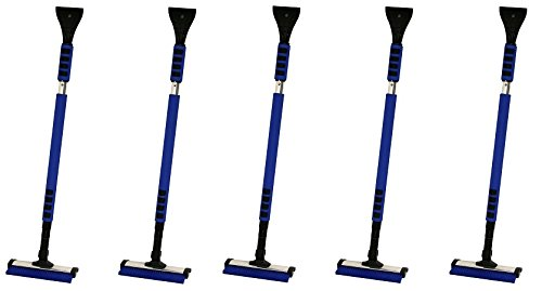 Dart Seasonal Products CB99 38-Inch To 62-Inch Telescopic Snow Removal Car Brush with Ice Scraper (5-Pack)