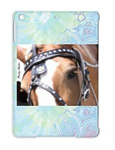 Anti-shock White Miscellaneous Horses Art Art Design Huge Horse Cover Case For Ipad Air
