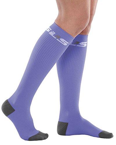 SLS3 True Graduated Allrounder Compression , Performance, Training, Race, Recovery Socks (1 pair) - Helps Shin Splints Black
