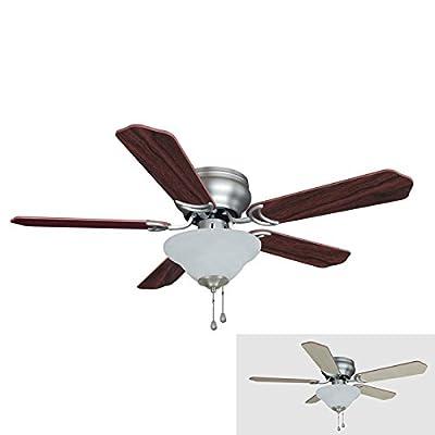 Hardware House 42-Inch 2 Light Flush Mount Ceiling Fans
