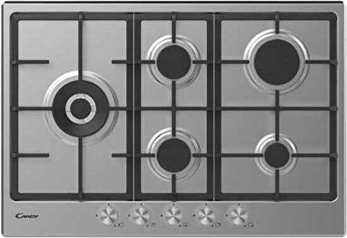 Candy - CHG7WLWPX - Placa de cocina a gas de 75 cm, 5 fuegos ...