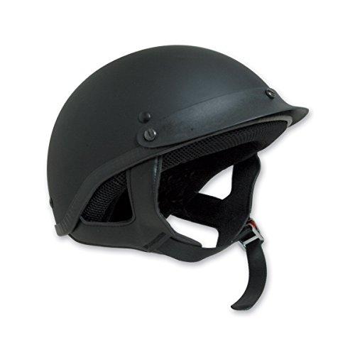 HCI-100 Half Helmet (Matt Black, (Matt Black Small Helmet)