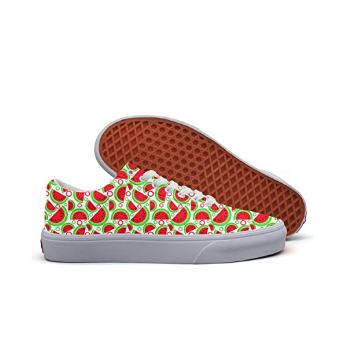 Cute Watermelon Women's Casual Sneakers Shoes Slip-On Sports Low Top Vegan (Best Flavour C4 Pre Workout)