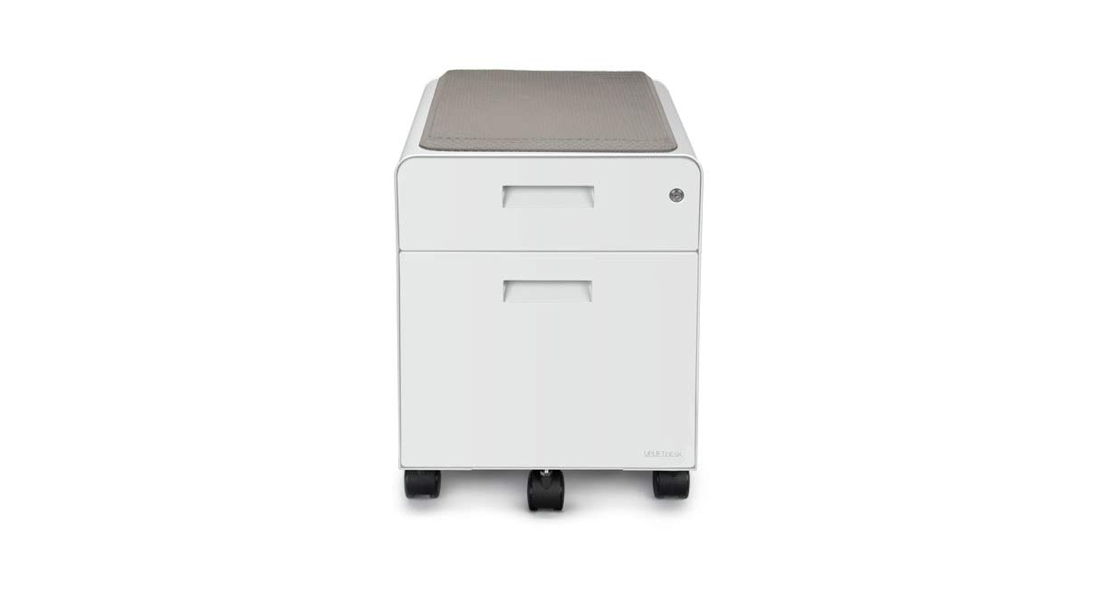 UPLIFT Desk - 2-Drawer File Cabinet with Seat, Rolling (White)