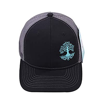 BLE DENDRO Snapback Trucker Hat with Tree of Life Black, Grey