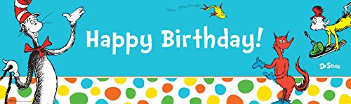 Dr Seuss Cat in the Hat Party Supplies - Vinyl Birthday Banner 18