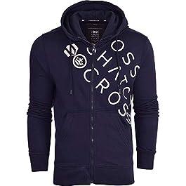 Crosshatch Makeshift Zip Up Hoodie Hooded Plain Full Zip Thru Jacket Pullover Jumper Sweatshirt