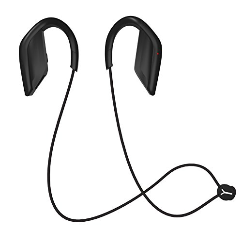 Bluetooth Headphones Sports Wireless Bass Stereo Earphone Bluetooth V4.1 Sweatproof Headset with Mic Noise Cancelling Earbuds for iPhone 7 7plus 6 galxay S8 Ipad for Gym Running Jogging – Black