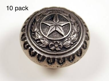 Antique Knob Cabinet Star - TEXAS STATE SEAL KNOB AS WESTERN CABINET HARDWARE DRAWER PULLS STAR KNOBS (10)