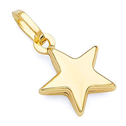 14k Yellow Gold Star Charm Pendant
