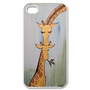 Yo-Lin case FXYL255331Giraffe and sunset protective case cover For Iphone 4 4S case cover