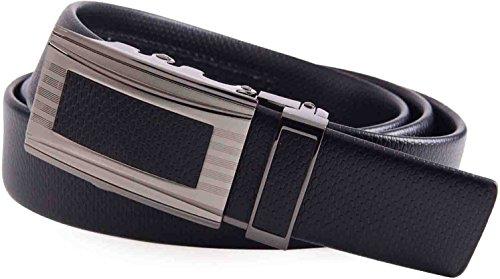 Mio Marino Classic Ratchet Belt - Premium Leather - 1.38 Wide - Adjustable Buckle - Free Gift Box - Indented Border Ratchet Belt - Black - Adjustable from 38'' to 54'' Waist by Marino Avenue (Image #5)