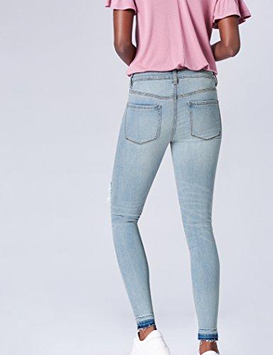 Con Donna Jeans Blu Skinny Find Patchwork Blue light Ctgqpw