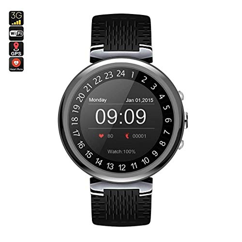 Bluetooth Smart Watch, Touch Screen Waterproof Smartwatch Phone with SIM Card for Man 1.3 in (Color : ()