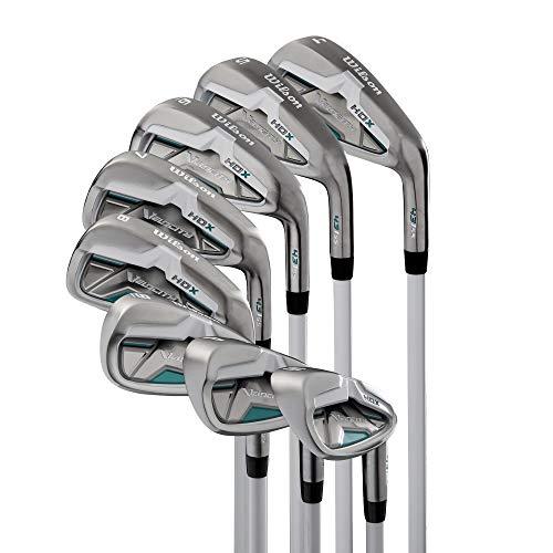 Wilson Velocity HDX Women Right Hand Stiff Flex Steel Iron 4-PW+SW Golf Club Set