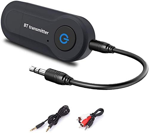 Wireless Audio Transmitter USB V4.2 Wireless Bluetooth Transmitter Adapter Connected to 3.5mm Audio Receiver Devices Low Latency Paired for PC TV Headphones Car Home Stereo Music